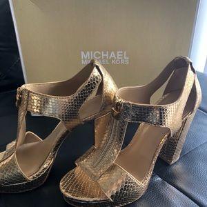 Michael Kors Gold Platforms